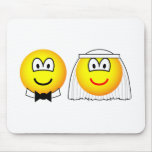Married emoticon bride and groom  mousepad