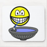 Water fountain smile drinking  mousepad