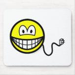 Unplugged smile   mousepad