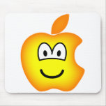 Apple logo emoticon   mousepad