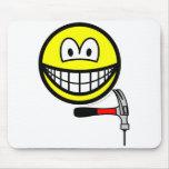 Hammer and nail smile   mousepad