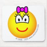 Baby girl emoticon   mousepad