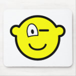Wink buddy icon   mousepad