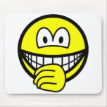 Thumb sucking smile   mousepad
