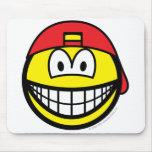 Backward cap smile   mousepad
