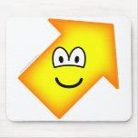 Up right emoticon arrow  mousepad