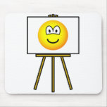 Painted emoticon   mousepad
