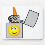 Lighter emoticon   mousepad