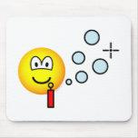 Bubble blowing emoticon   mousepad