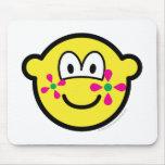 Flower power buddy icon   mousepad