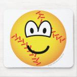Baseball emoticon   mousepad