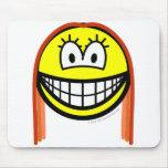 Redhead smile   mousepad