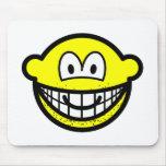 Stubbly beard smile   mousepad