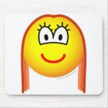 Redhead emoticon   mousepad