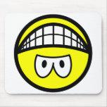 Upside down smile   mousepad