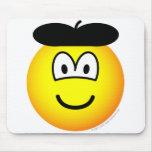 Baret emoticon   mousepad