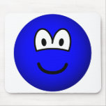 Colored emoticon blue  mousepad
