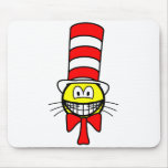 Cat in the hat smile   mousepad