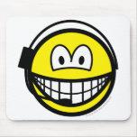 Headset smile   mousepad
