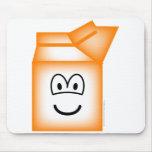Milk carton emoticon   mousepad