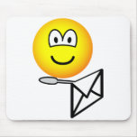 Letter opening emoticon   mousepad