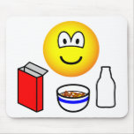 Breakfast emoticon cereal  mousepad