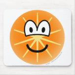 Orange emoticon   mousepad