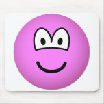 Colored emoticon pink  mousepad