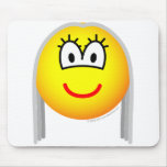 Gray haired emoticon   mousepad