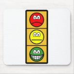 Traffic light smile happy - neutral - sad  mousepad