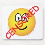 Censored emoticon   mousepad