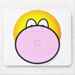 Bubble gum emoticon   mousepad