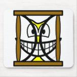 Hourglass smile   mousepad