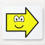 Right buddy icon arrow  mousepad