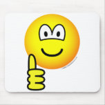 Duim omhoog emoticon   mousepad