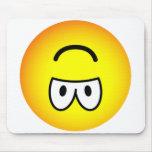Upside down emoticon   mousepad