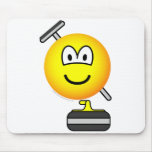 Curling emoticon   mousepad