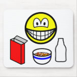 Breakfast smile cereal  mousepad