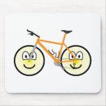 Mountain bike emoticon   mousepad