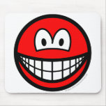 Colored smile red  mousepad