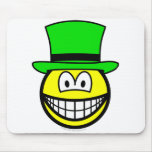 Green hat smile Six Thinking Hats - Creative Lateral Thinking  mousepad