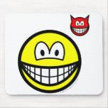 Devil on shoulder smile   mousepad