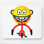 Tricycle buddy icon Riding  mousepad