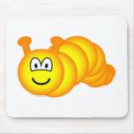 Caterpillar emoticon   mousepad