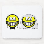 Married smile bride and groom  mousepad