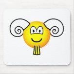 Aries emoticon Zodiac sign  mousepad