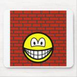 Against the wall smile   mousepad