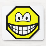 Octagon smile   mousepad