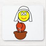 Dutch milk maid buddy icon   mousepad