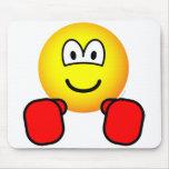 Boxing emoticon   mousepad